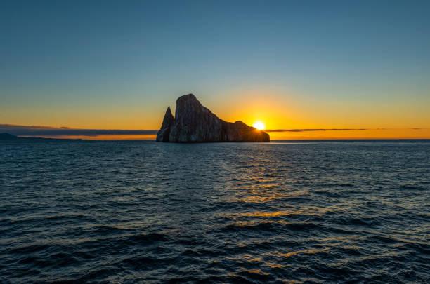 Kicker Rock, Galapagos Islands stock photo