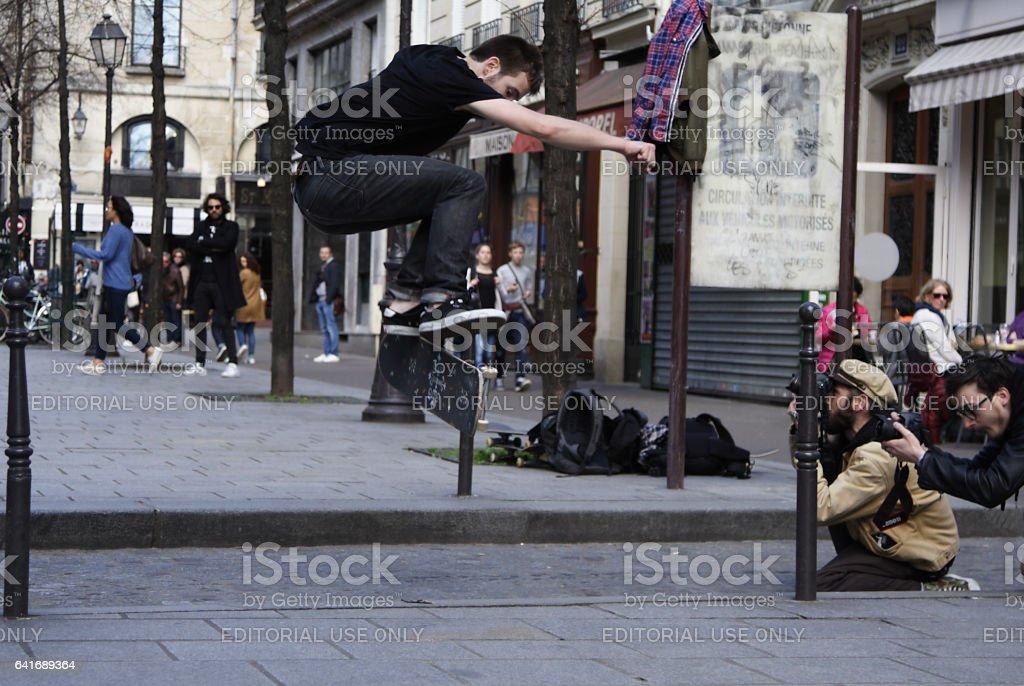 Kickflip stock photo