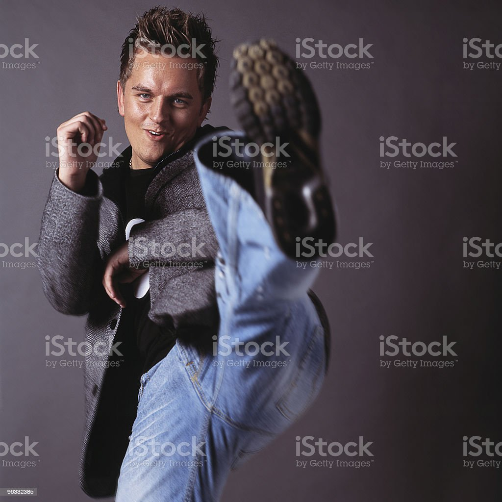 Kickin' it! royalty-free stock photo