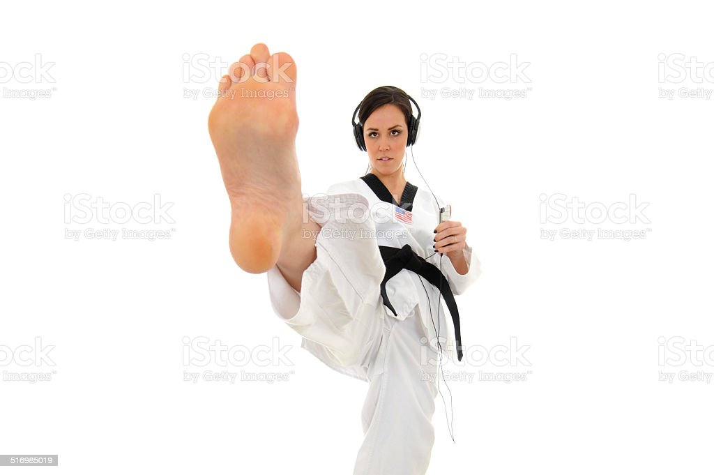 Kicking Beats stock photo
