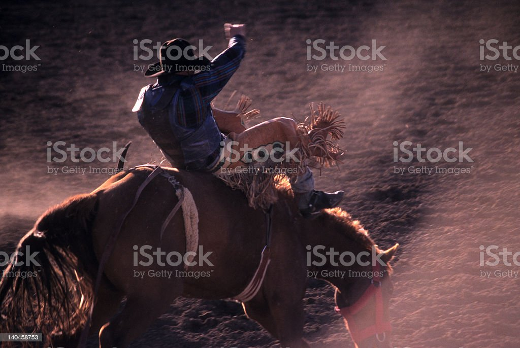 Kicking Dust At The Rodeo stock photo