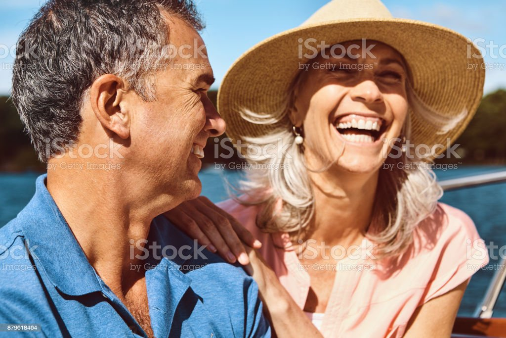 Kicking off retirement with a cruise stock photo