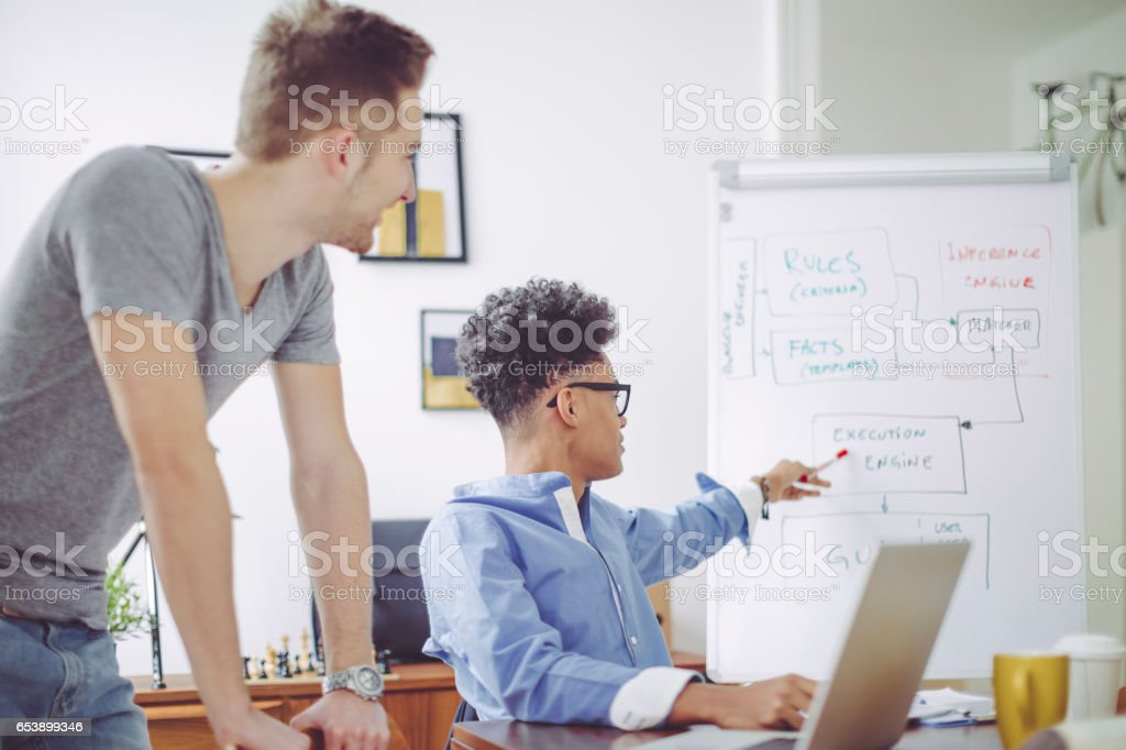 Kicking off the start-up stock photo