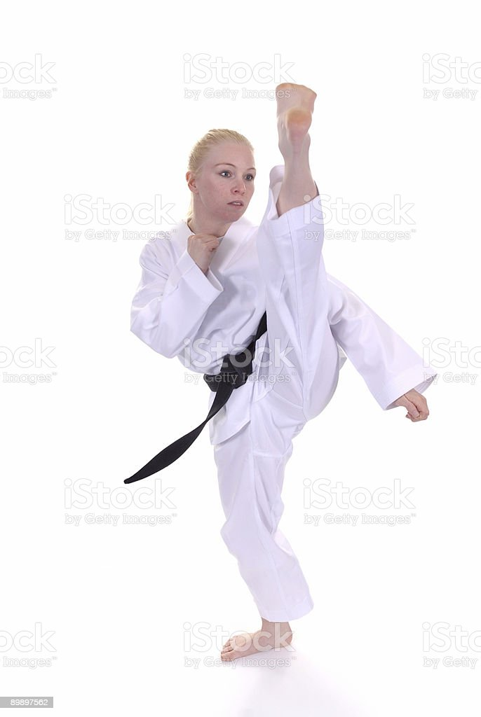 Kicking posture royalty-free stock photo