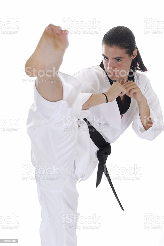 Kicking vertical stock photo