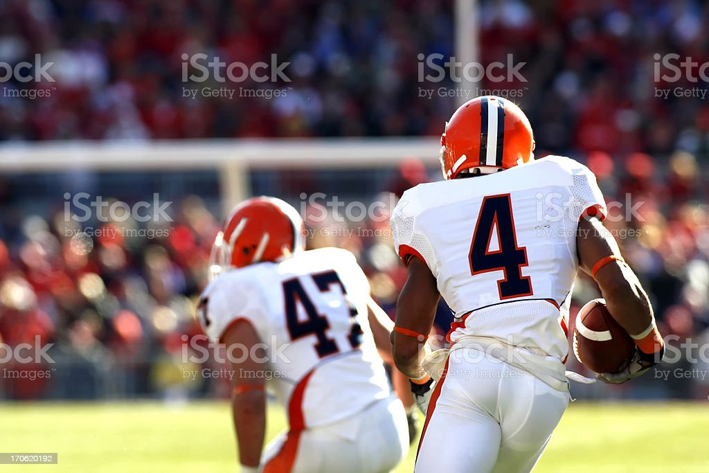 Kickoff Return stock photo