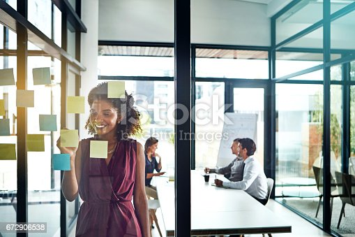 istock Kickstarting the project with a brainstorming session 672906538