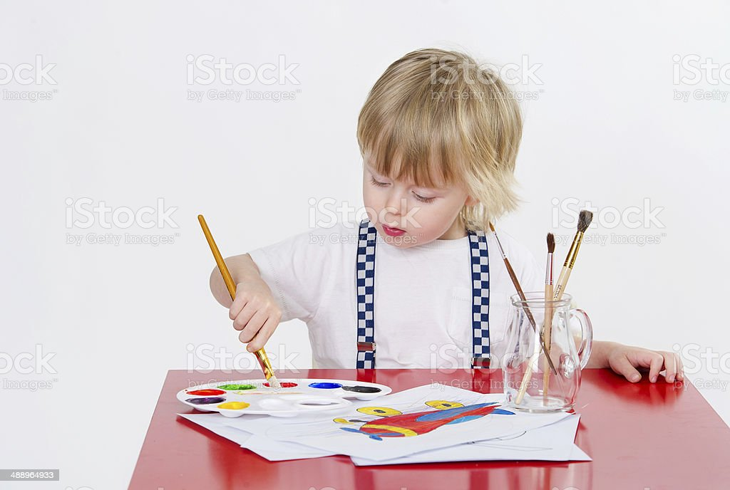 Kid and art education royalty-free stock photo