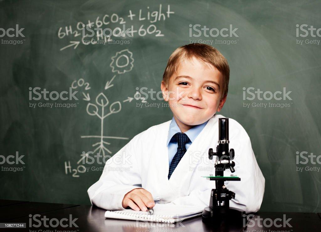 Kid Botanist stock photo