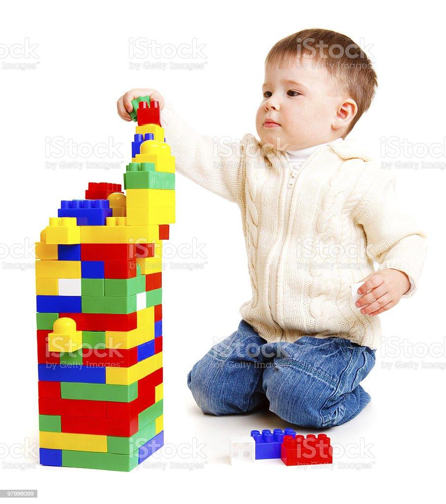 Kid building royalty-free stock photo