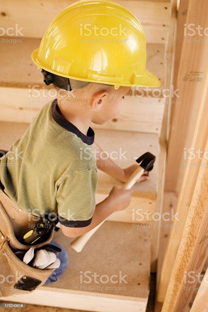 Kid Carpenter royalty-free stock photo