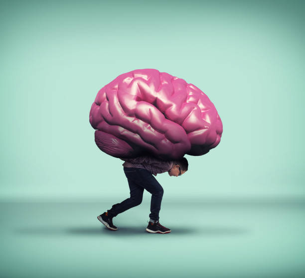 kid carrying a brain on his back. - cursed stock pictures, royalty-free photos & images