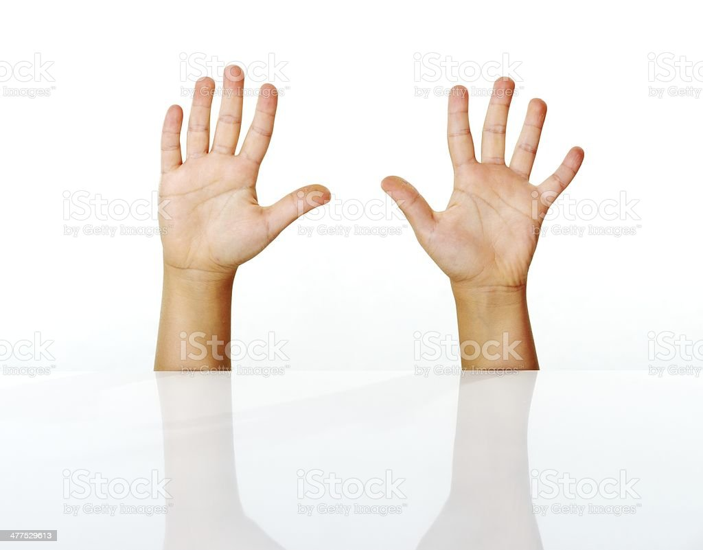 Kid fingers isolated stock photo