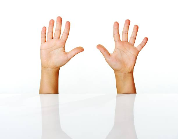 Kid fingers isolated stock photo