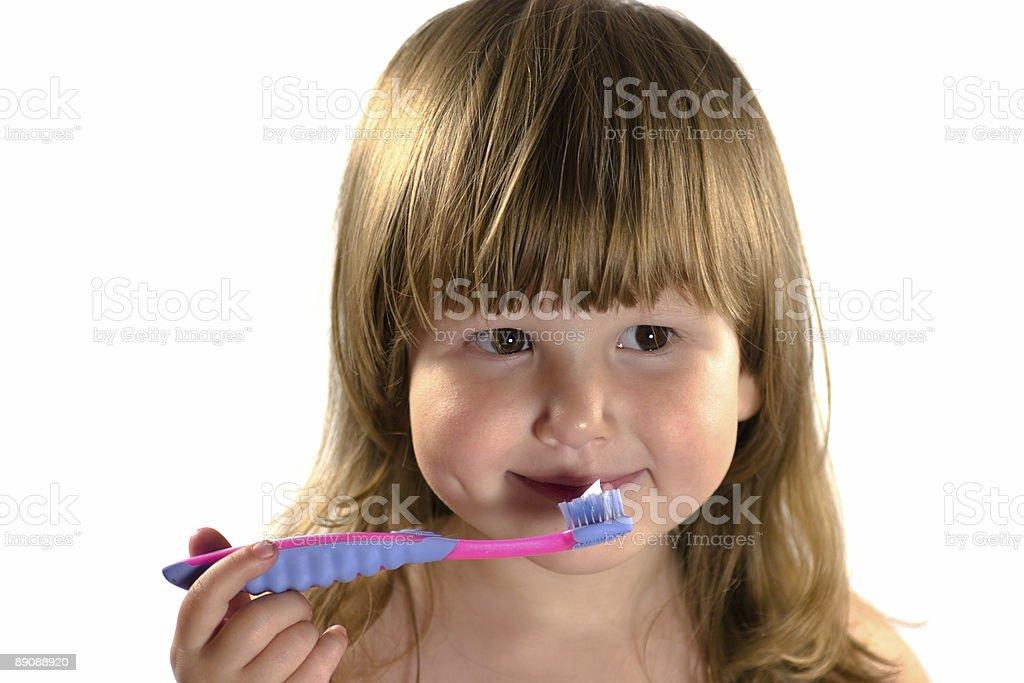 Ребенок как Чистить зубы Стоковые фото Стоковая фотография
