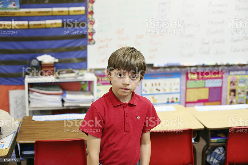 Kid In Classroom royalty-free stock photo