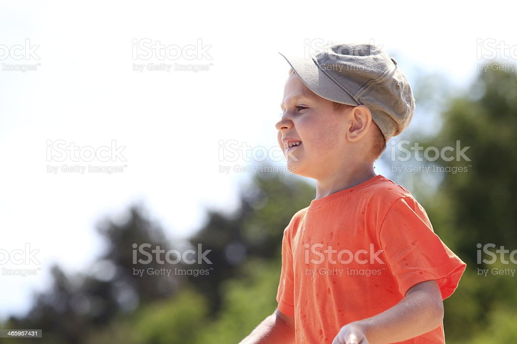 9ccd2af194da Kid Little Boy In Cap Outdoor Stock Photo & More Pictures of Boys ...
