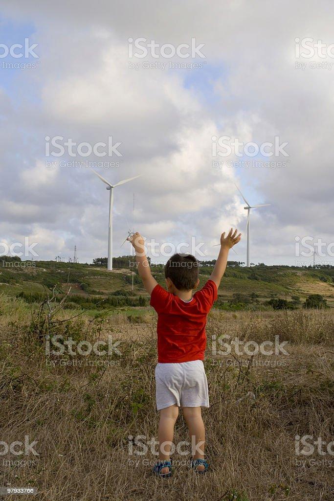 Kid loving ecology royalty-free stock photo