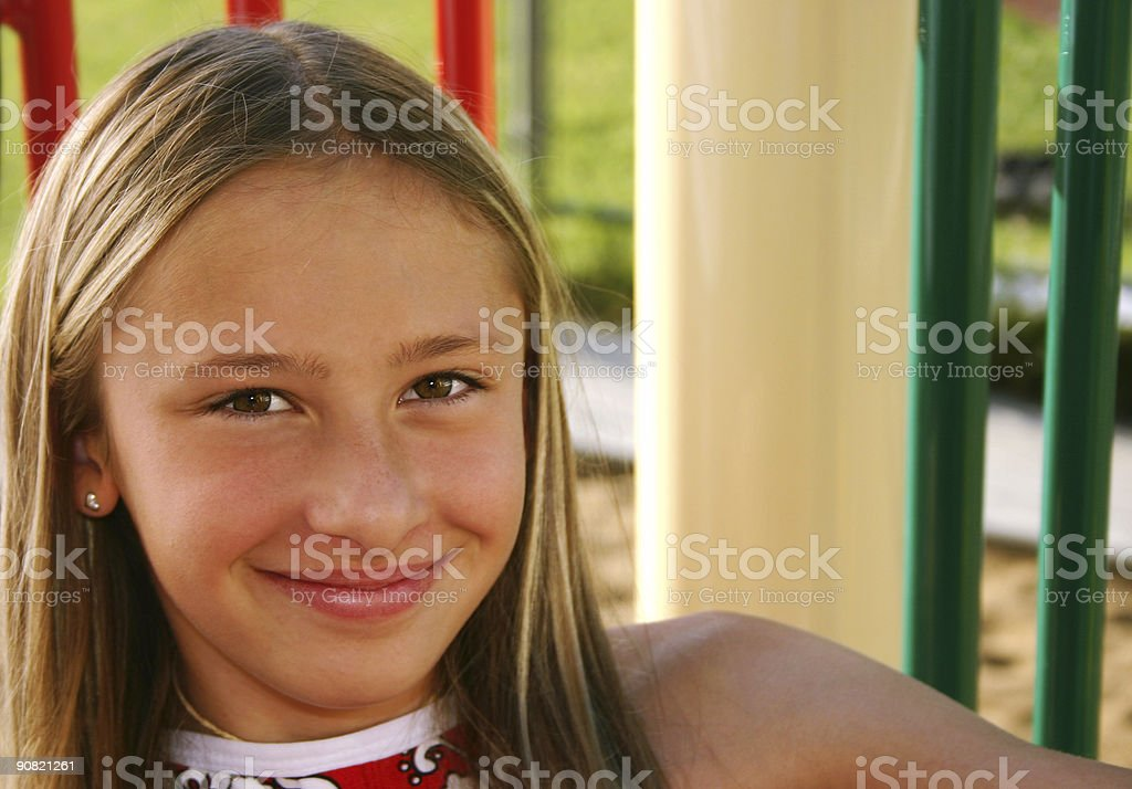 Kid on playground royalty-free stock photo