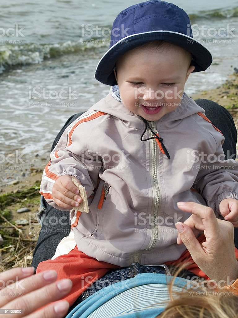 kid playing with mother royalty-free stock photo