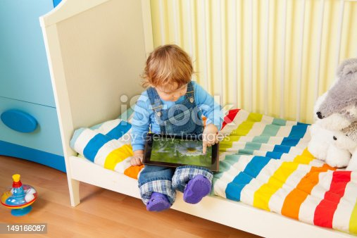 istock Kid playing with tablet pc 149166087