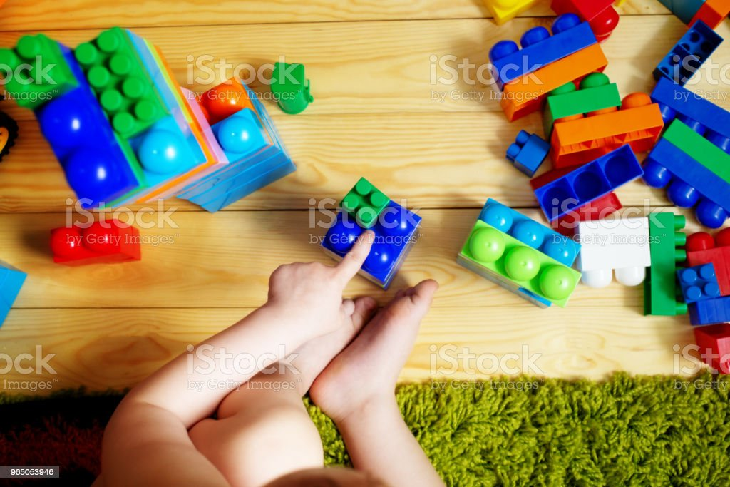 kid playing with toys royalty-free stock photo