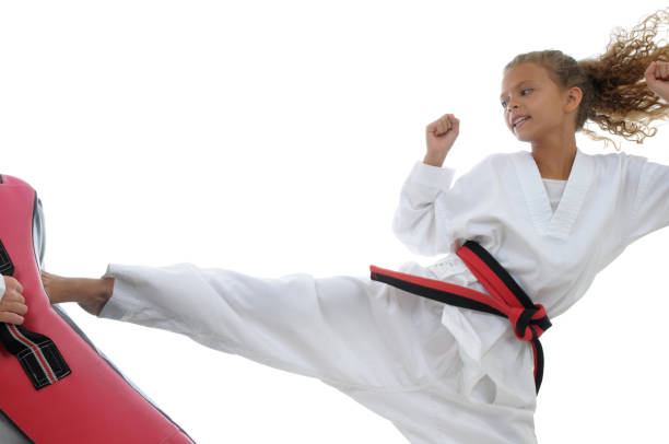 kid power - martial arts gerville stock photos and pictures