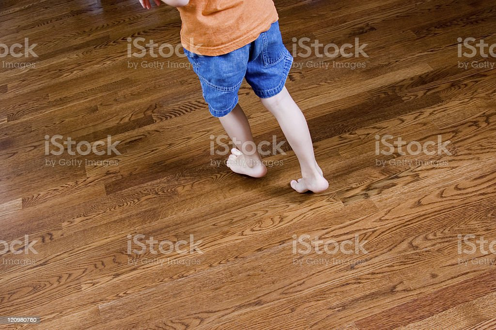 Kid Proof Hardwood Floors royalty-free stock photo