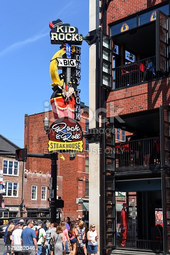 istock Kid Rock's restaurant/bar in Nashville with controversial sign/name 1179382046