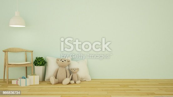 istock Kid room interior - 3D Rendering 866836734