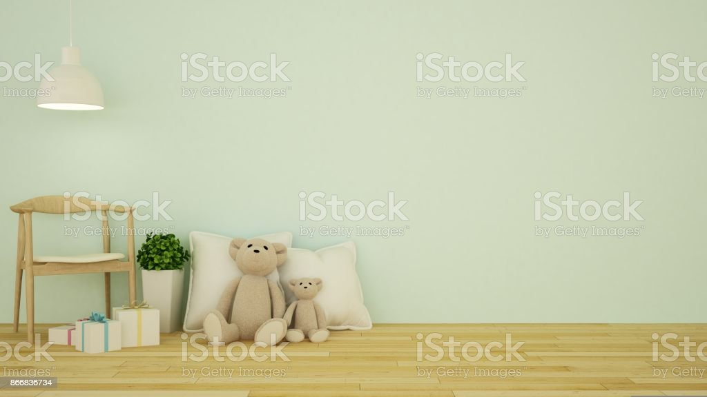 Kid room interior - 3D Rendering stock photo