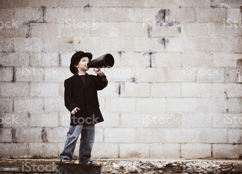 Kid Salesman royalty-free stock photo
