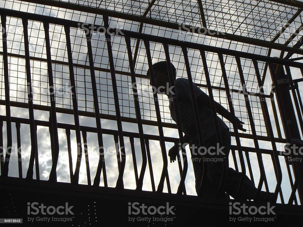 kid silhouette stock photo