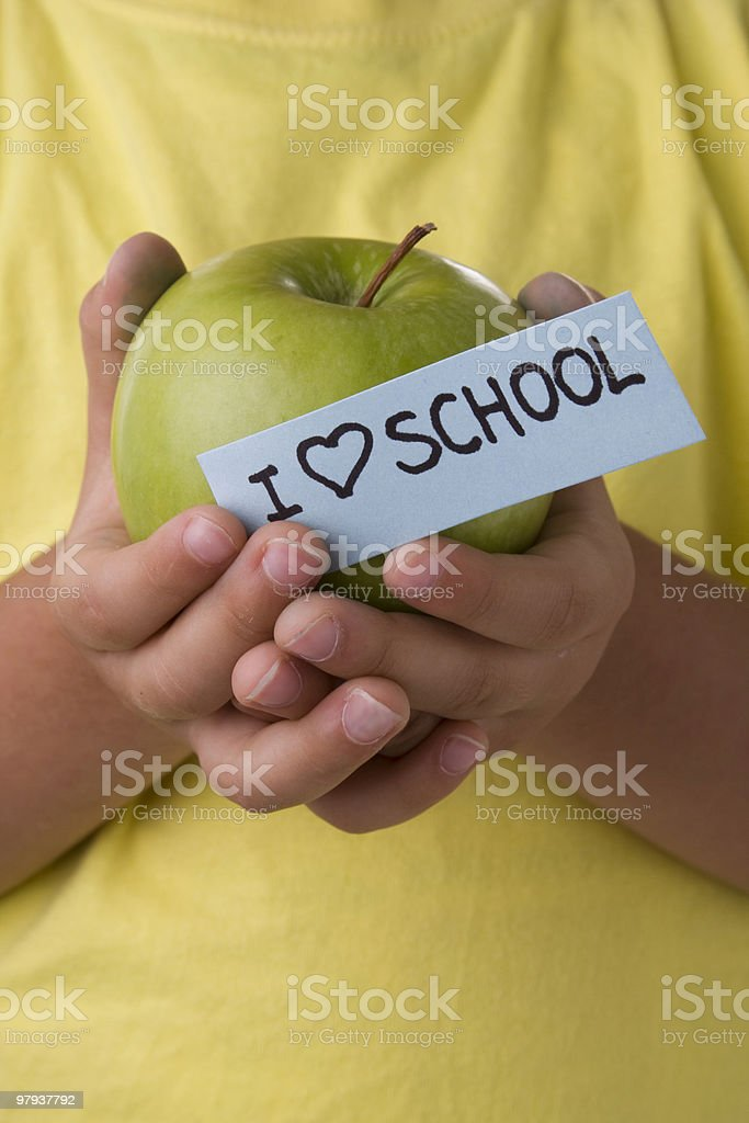 Kid that loves school royalty-free stock photo