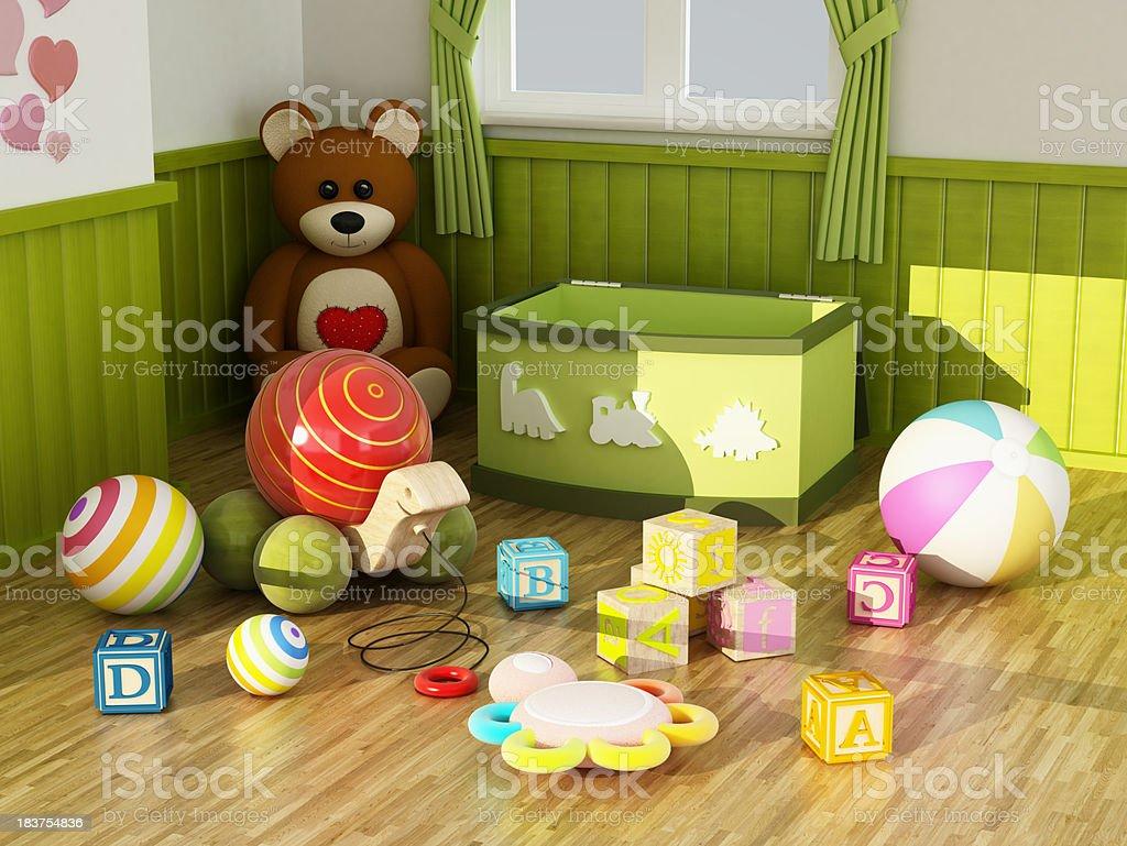 Kid toys stock photo