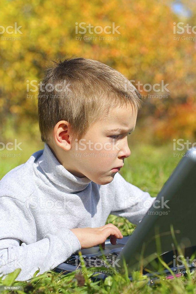kid with notebook royalty-free stock photo