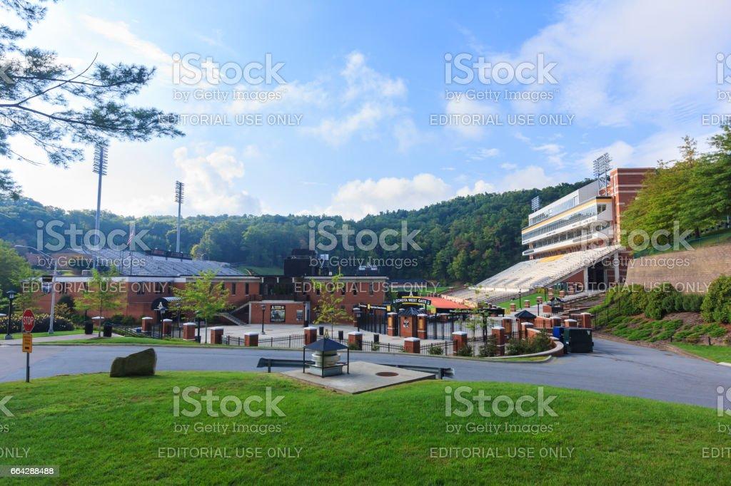 Kidd Brewer Stadium at Appalachian State stock photo