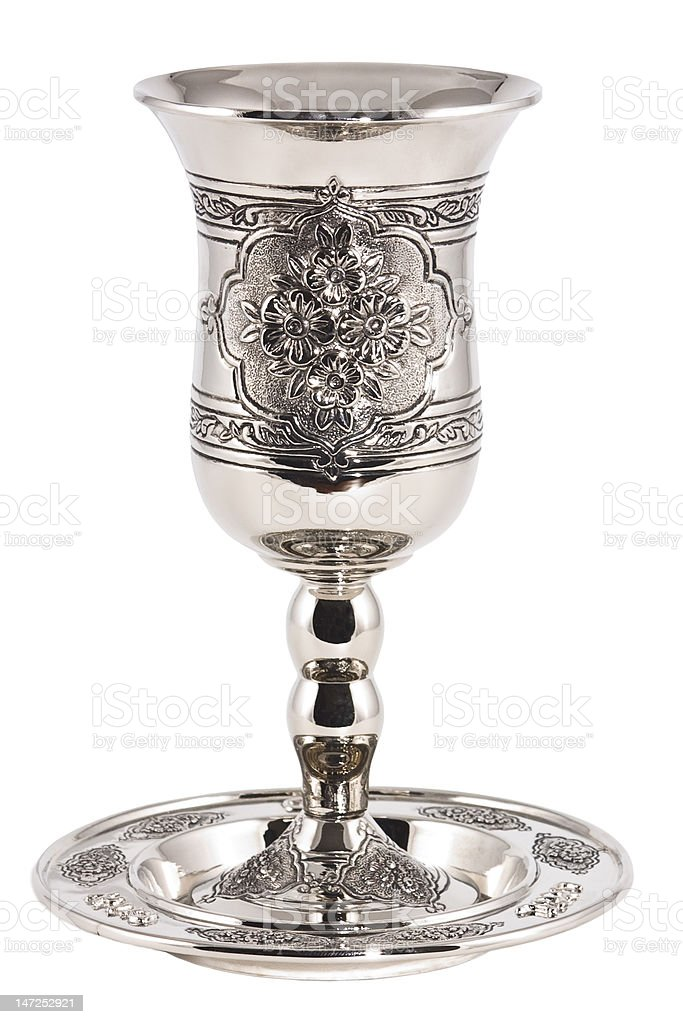 kiddish cup with wine royalty-free stock photo