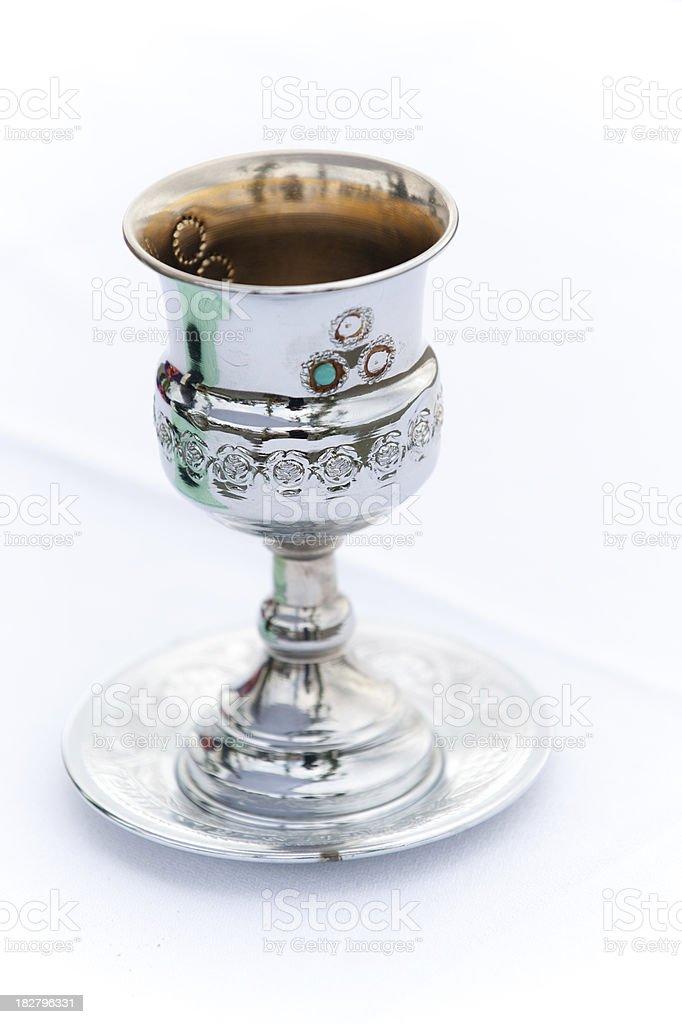 Kiddush cup stock photo