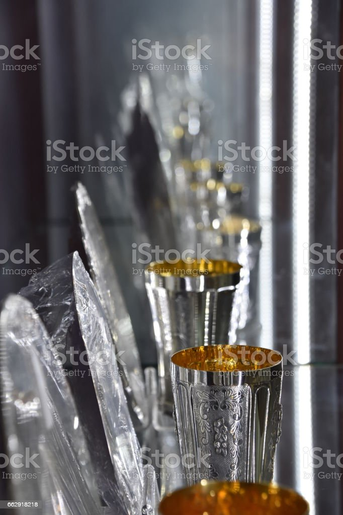 Kiddush cup stock photo
