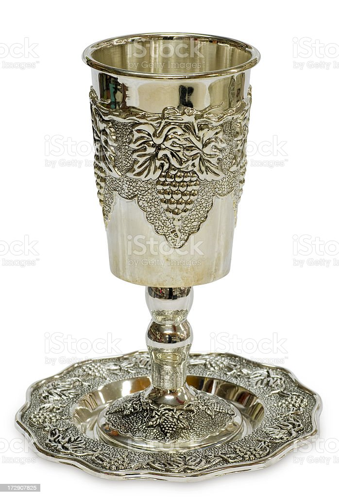 Kiddush glass (clipping path) stock photo