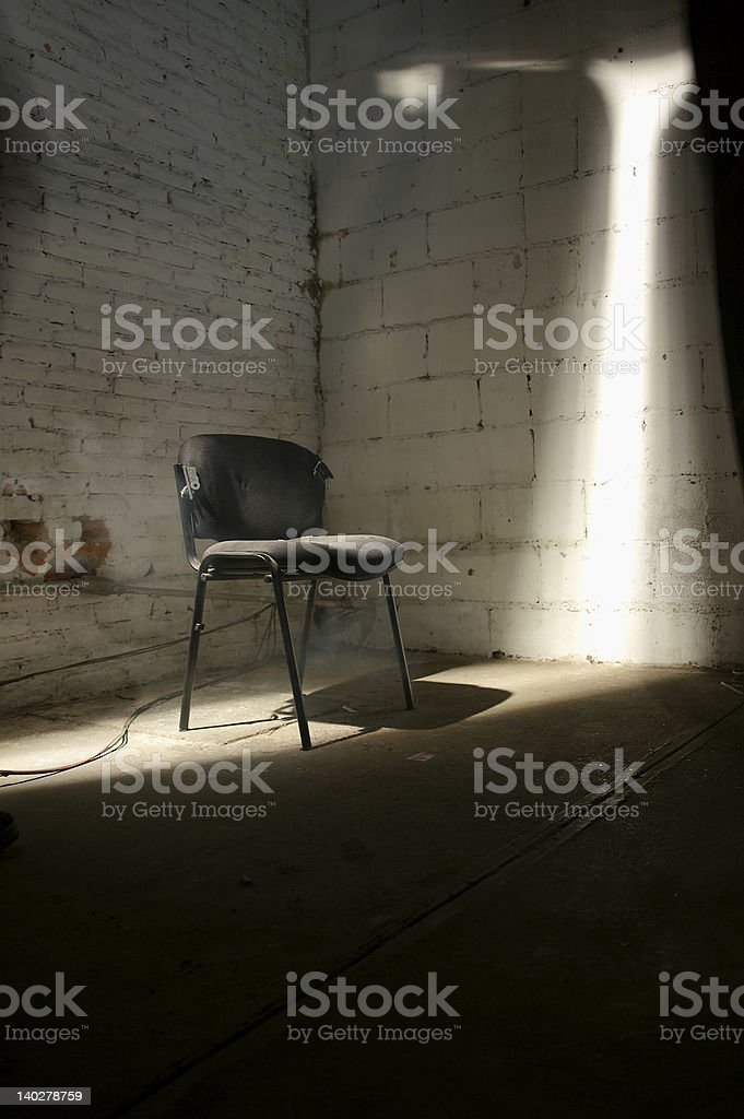 Kidnaped chair stock photo