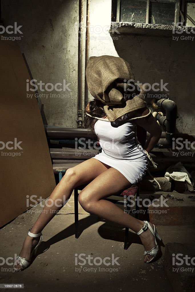 Kidnapped Woman stock photo