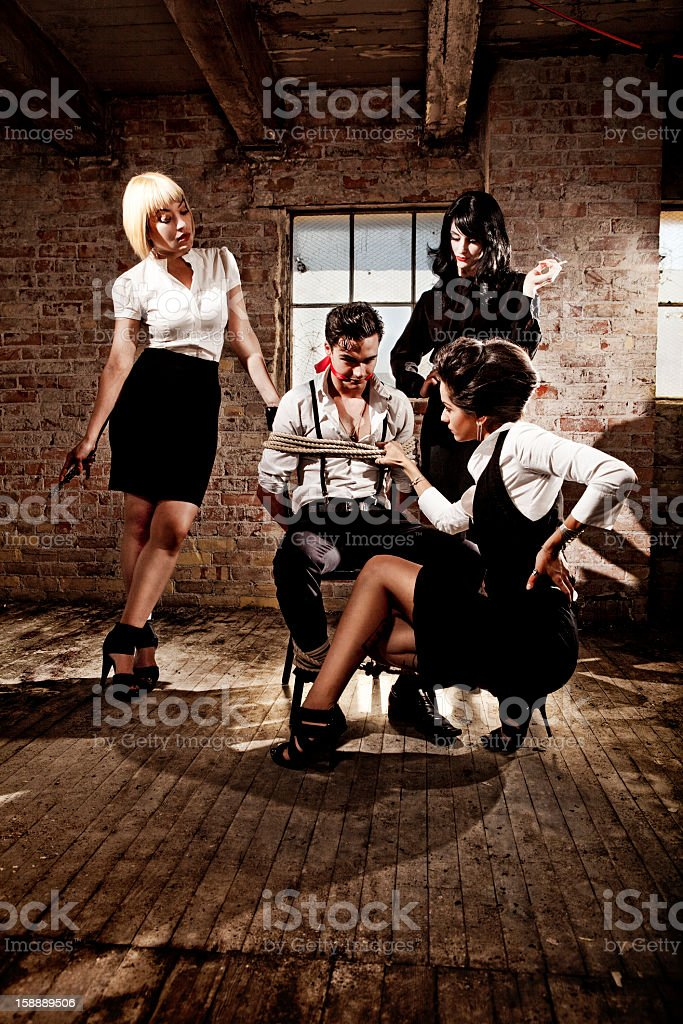 Kidnapping and Interrogating stock photo