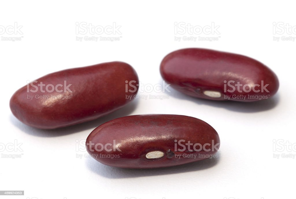 Kidney bean isolated on the white background stock photo