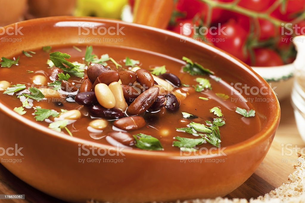 Kidney bean soup stock photo