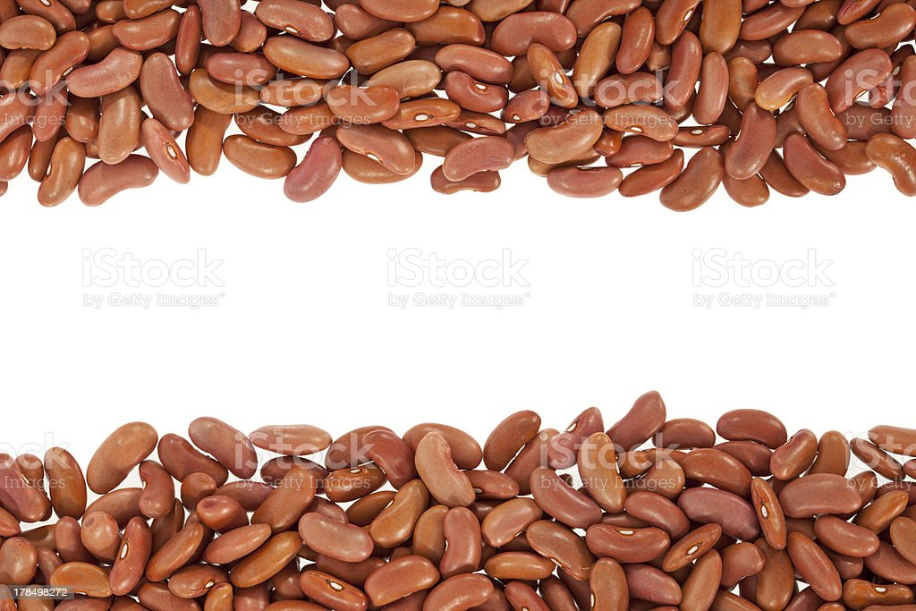 Kidney beans arranged in a frame royalty-free stock photo