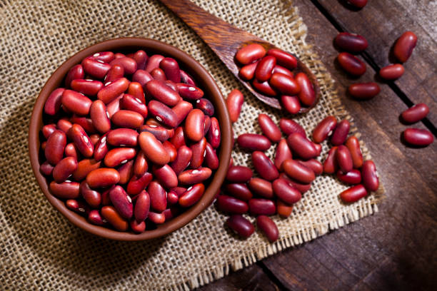 Kidney beans in a bowl stock photo