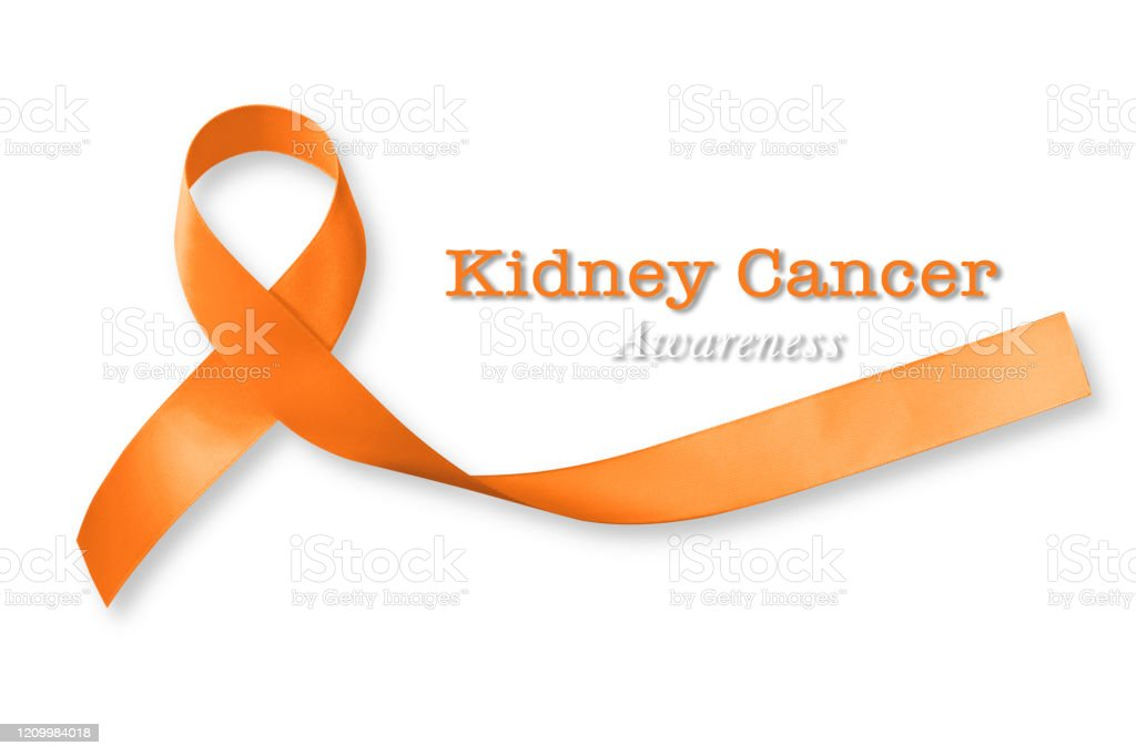 Kidney Cancer Awareness Orange Color Ribbon Isolated With Clipping Path Stock Photo Download Image Now Istock