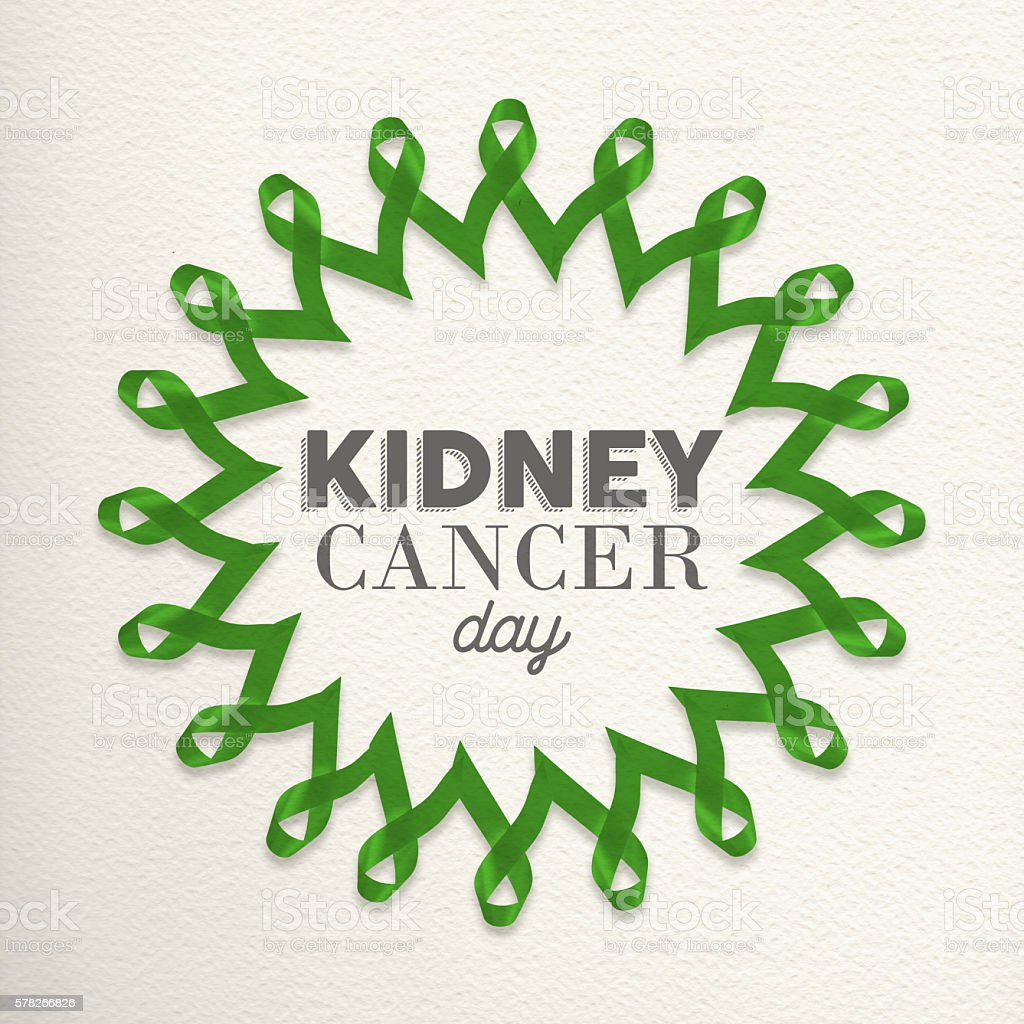 Kidney Cancer Day Mandala Made Of Ribbons Stock Photo More